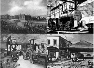 Винахід парової машини, локомотива і будівництво перших залізниць