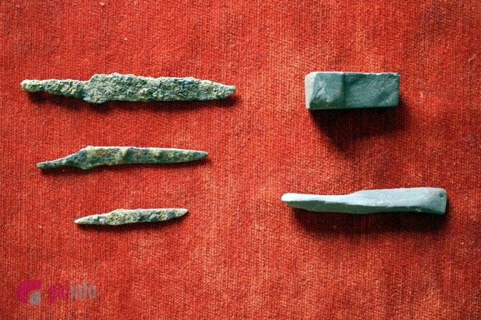 Давньоруські леза ножів та точильні бруски знайдені археологічною експедицією в Пліснеську у 2018 році