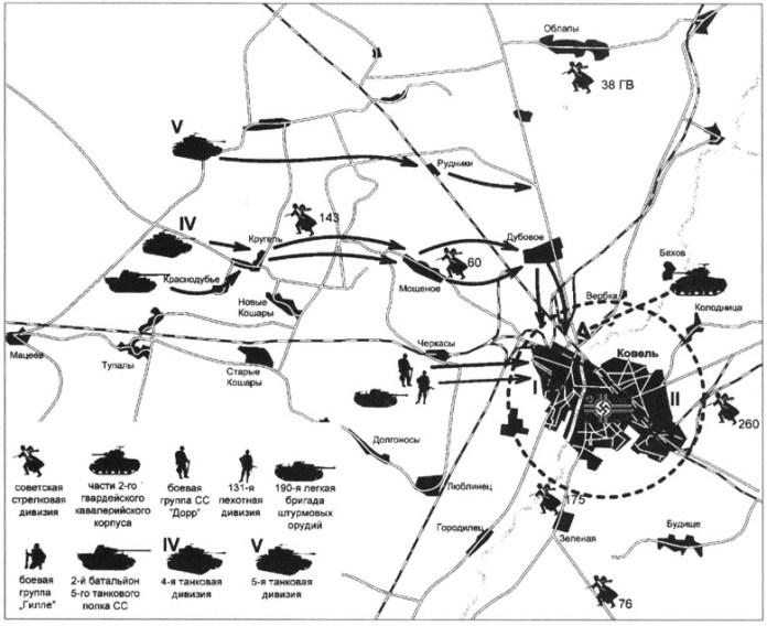 Мапа штурму Ковеля