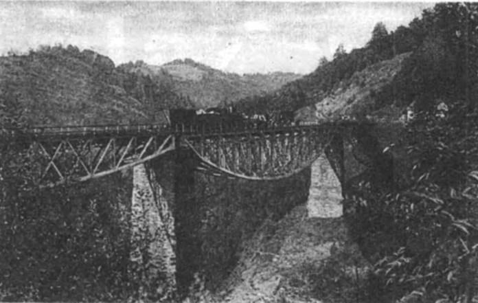 Віадук біля Скотарського. Фото кінця ХІХ ст.