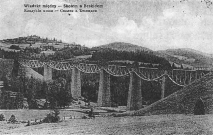 Віадук між Сколе і Бескидом. Фото кінця 1880-х рр.