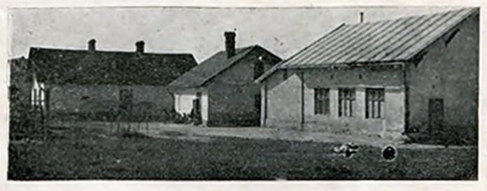 """Будинки """"Рідної школи"""" і читальні """"Просвіти"""" на Личакові,1930 р."""