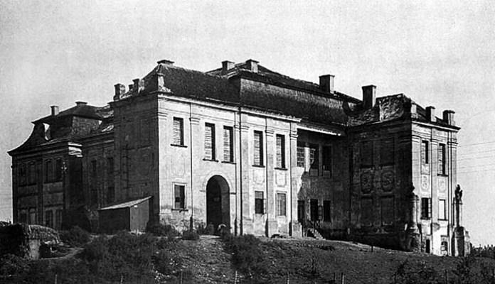 Палац Любомирських, вид з боку річки Усті, поч. ХХ ст.