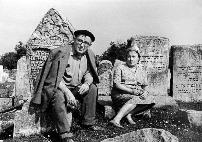 Левицький і його дружина Євгенія Надлер