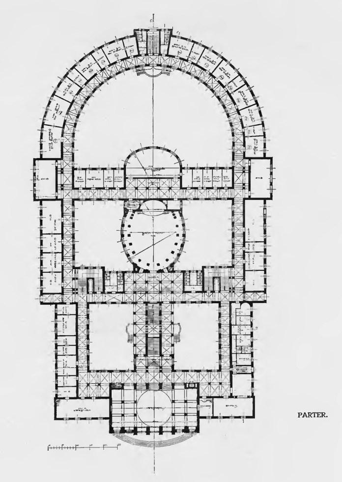 Проект нової будівлі львівського університету Адольфа Шишко-Богуша та Максиміліана Бурстіна, 1913