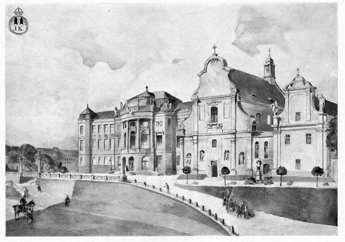 Проект нової будівлі львівського університету Владислава Садловського, 1913