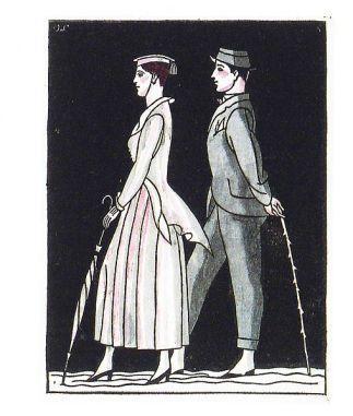 Мода 1910-их років в ілюстраціях Отто Лендеке.