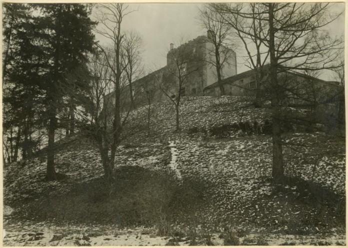 Свірзький замок на фото 1915-1918 років.