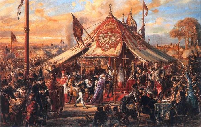 Вибори короля на картині Я. Матейка. Частина шляхетських вольностей. Фото з https://uk.wikipedia.org