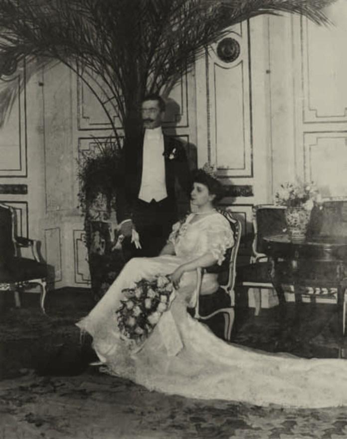 Весільне фото Анни Любомирської і Януша Радзивілла, Олика, 1905 рік