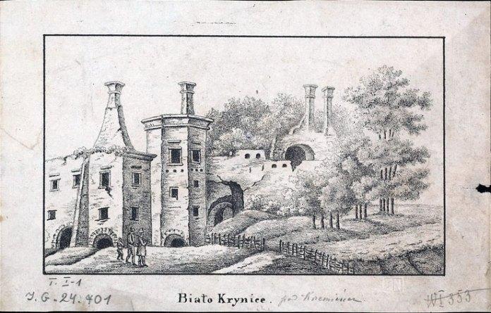 Замок у Білокриниці. Невідомий автор. Зображення з Національної бібліотеки Польщі
