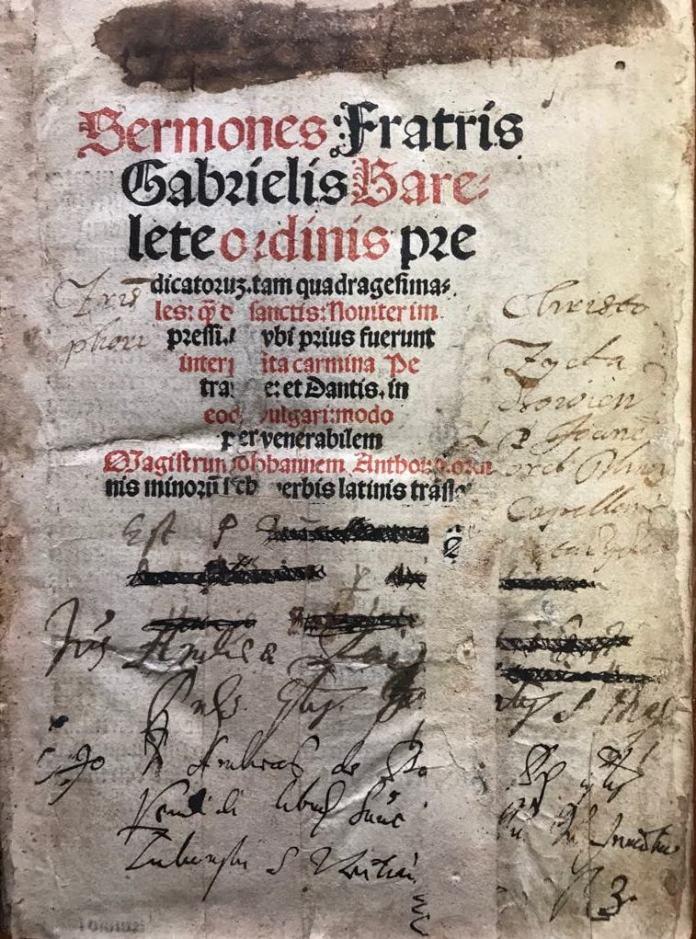 Sermones. F. Gabrielis Barelete