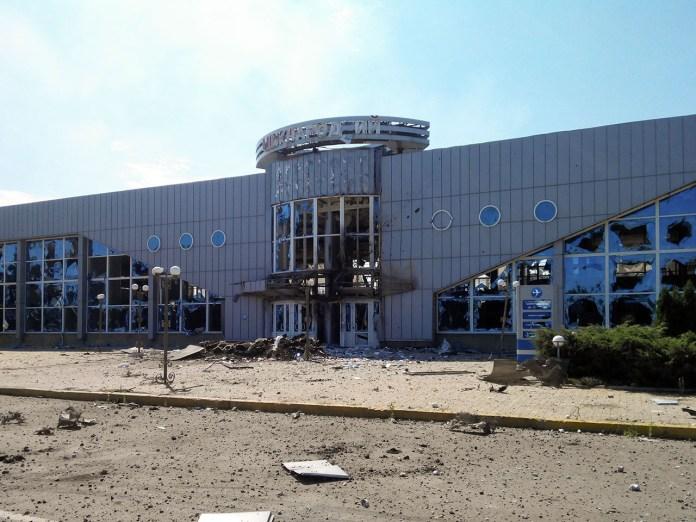 Луганський аеропорт , 2014 рік