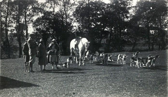 Полювання поблизу Поморянського замку, 1920-ті роки.
