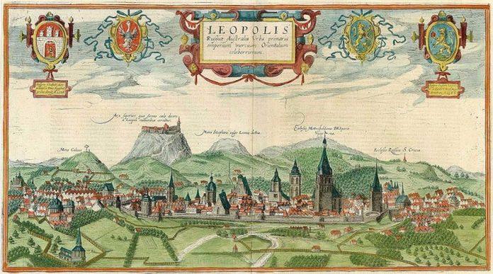 Панорама Львова Гогенберга / Пассаротті. Фото з https://uk.wikipedia.org/wiki/Панорама_Гоґенберґа