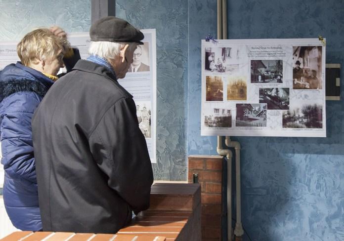Експозиція унікальної фотовиставки, присвяченої історії Левандівки