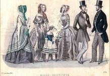 """""""Вісник мод паризьких"""" , 1845 р."""