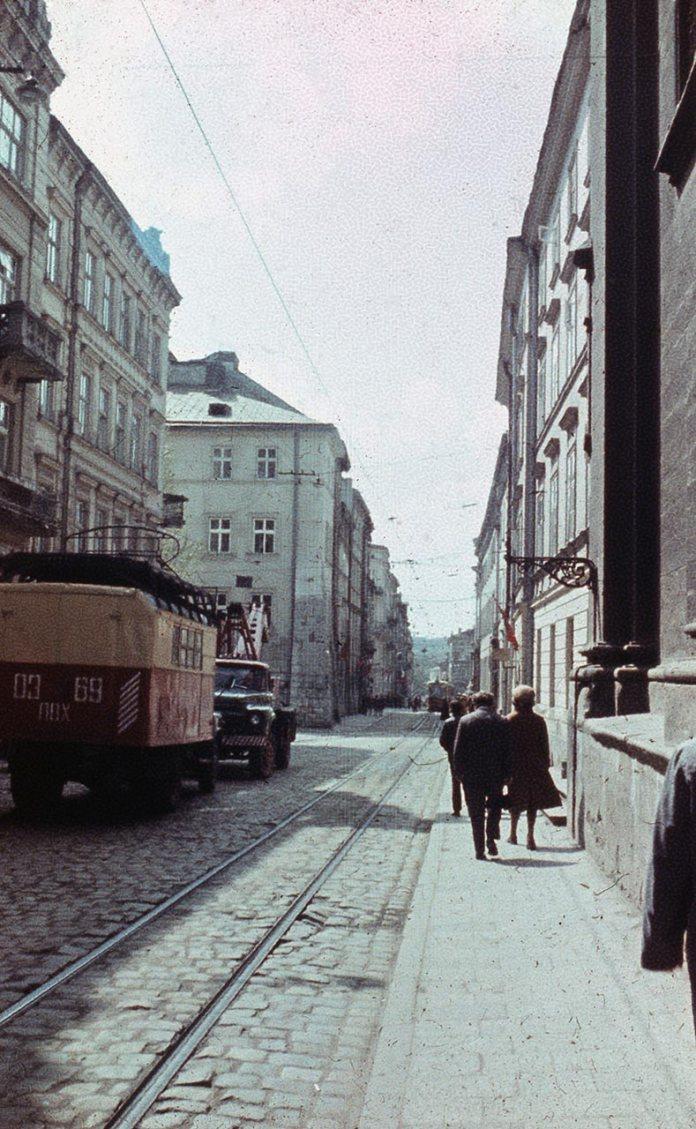 Львів, вулиця Руська. Фото 1979 року.