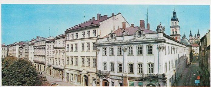 Площа Ринок з видом на вул. Руську, 1979 р.