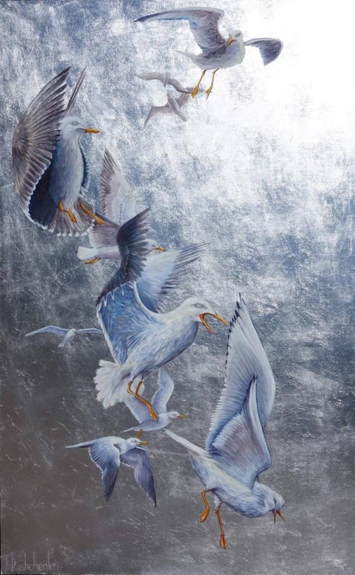 Експозиція виставки Дарії Іващенко «Золотий улов»