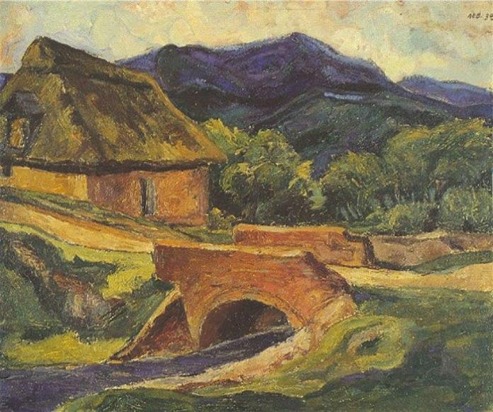 Мирон Левицький. Краєвид із мостом, 1938 рік