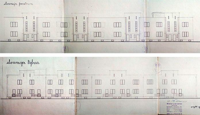 Фасади нового будинку в Луцьку з 4 блоками. Автори: Віктор Лібрович і Владислав Гарбуз