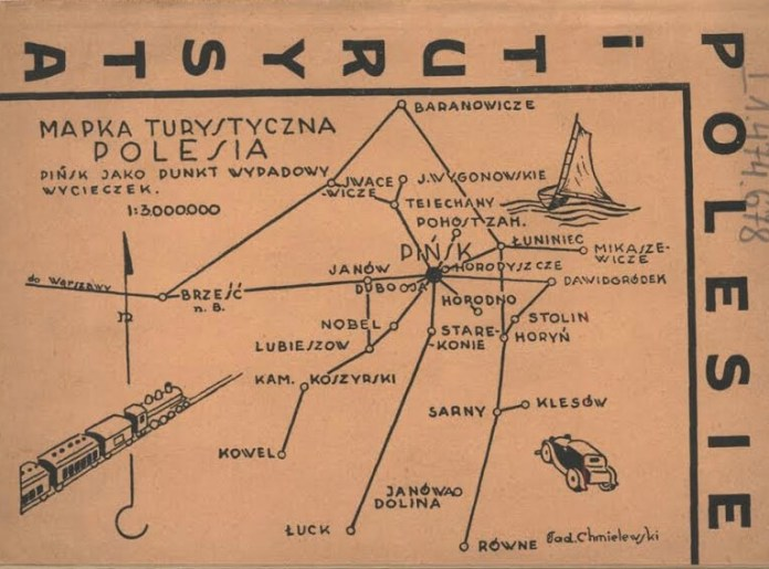 Туристична мапа Полісся, 1930-і роки