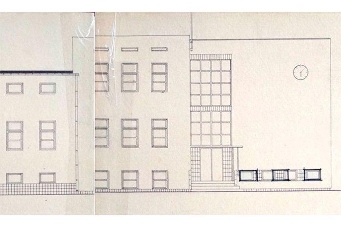 Фасади кравецької гімназії з проекту Яна Реди