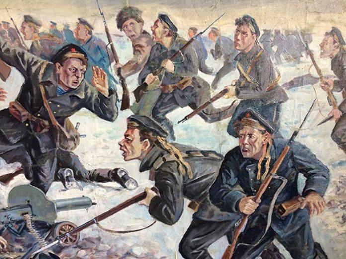 Елемент картини Олександра Климко «Бій під Крутами». Фото: Facebook.