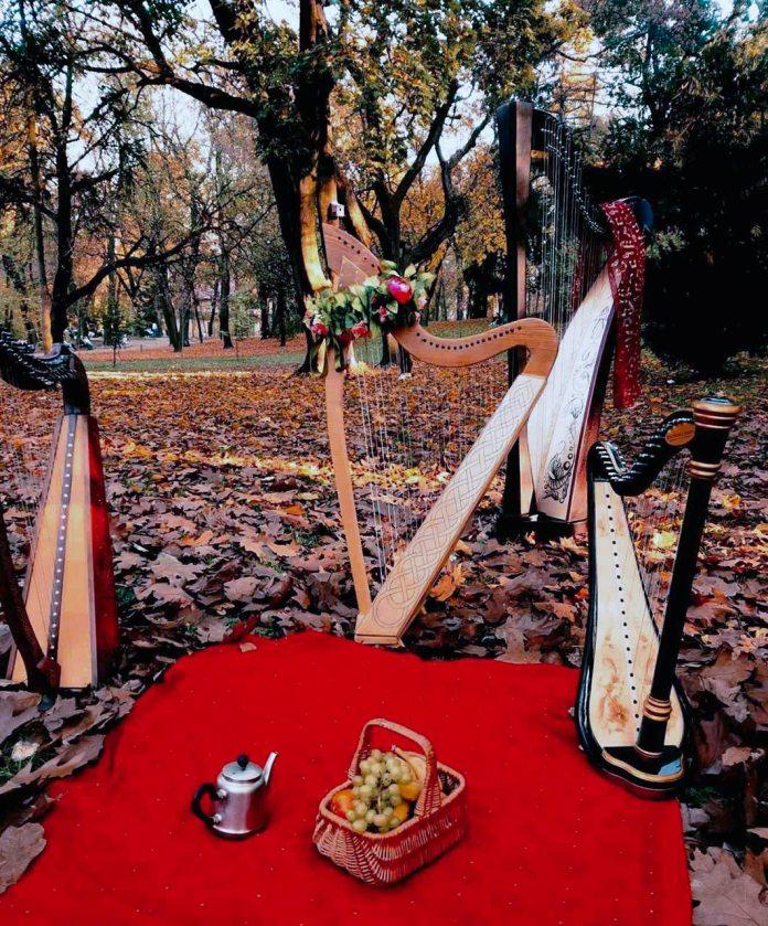 Ретро-пікнік з арфами