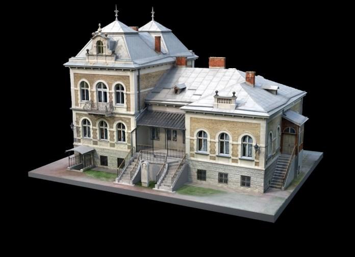 Тривимірна модель Державного меморіального музею Михайла Грушевського у Львові