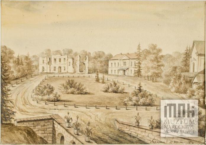 Таким побачив палац після пожежі Наполеон Орда