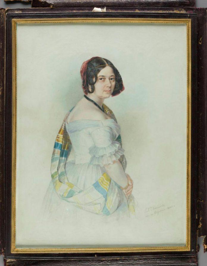 Олександра Радзівілл. Художник Ксаверій Каневскій, 1840 рік