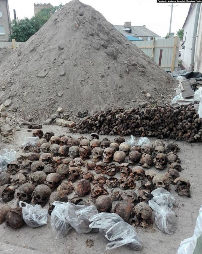Жертви НКВС, віднайдені у Луцьку у 2017 році