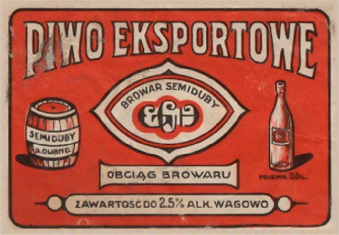 Етикетка від пива звареного в Дубно