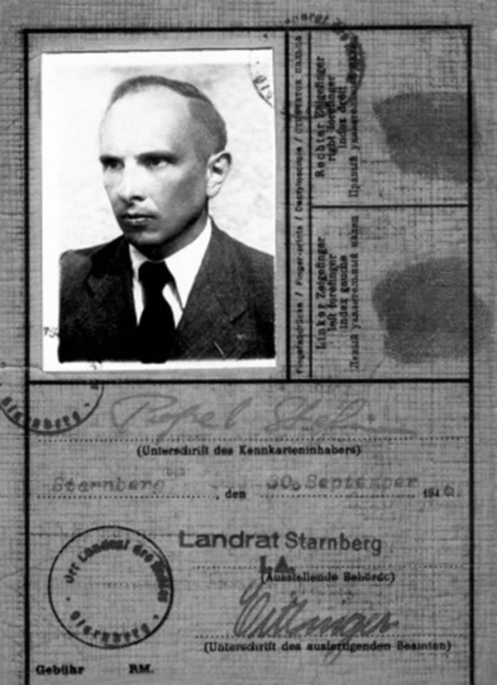 Посвідка, видана Бандері на його конспіративне прізвище в Штарнберґу, 30 вересня 1946 року. Зекінг, де Провідник ЗЧ ОУН отримав офіційну прописку (користувався нею до своєї смерті), розташований поруч із Штарнберґом, а тепер є частиною останнього