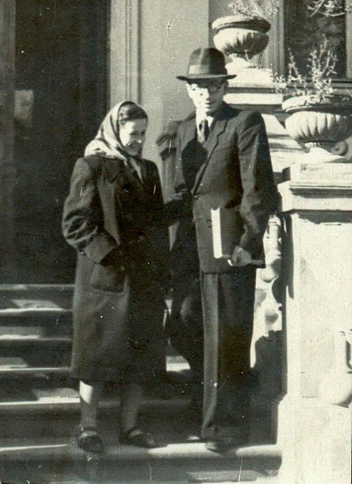 Теофілія Лінинська (дружина), Карло Звіринський у Львові, поч. 1950-х рр.