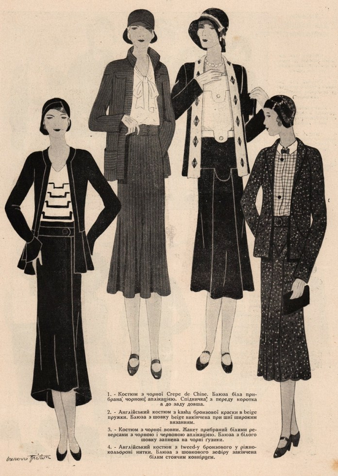 Модні фасони весни 1930 р.