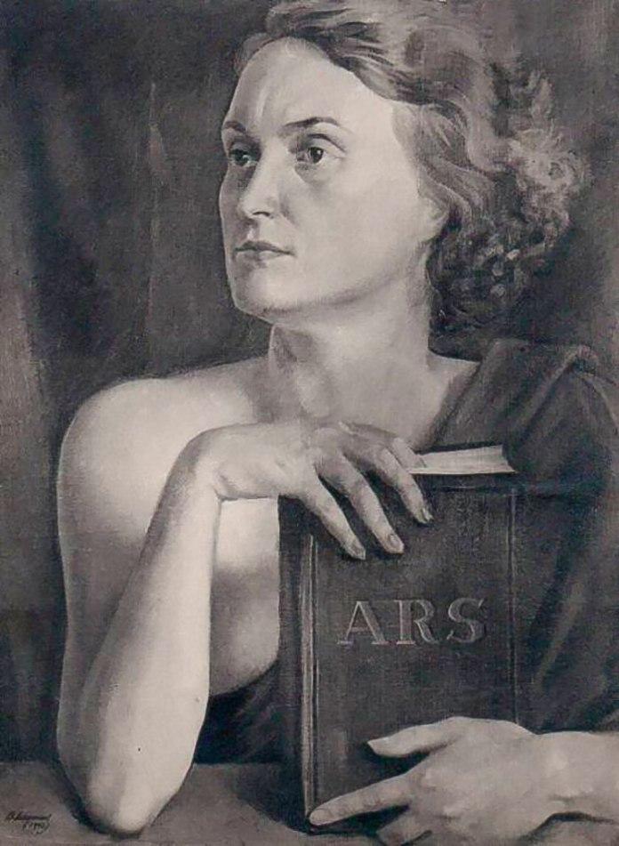 Василь Дядинюк. Муза мистецтва (Портрет дружини Ольги Козакевич-Дядинюк), 1930-ті рр..