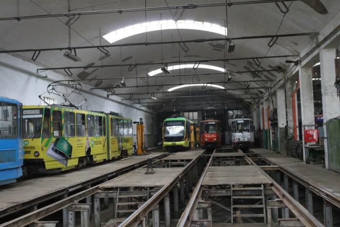 Трамвайне депо у Львові