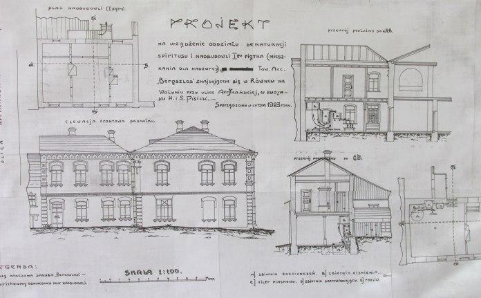 Проект перебудови і реконструкціїї броварні 1923 рік
