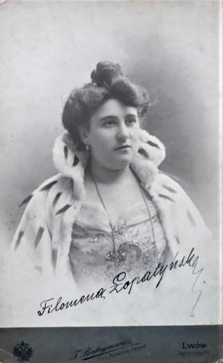 Філомена Лопатинська – драматична актриса і співачка (сопрано). фото з приватної колекції Миколи Рудевича.
