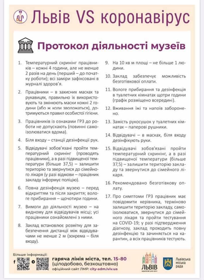 Протокол діяльності музеїв