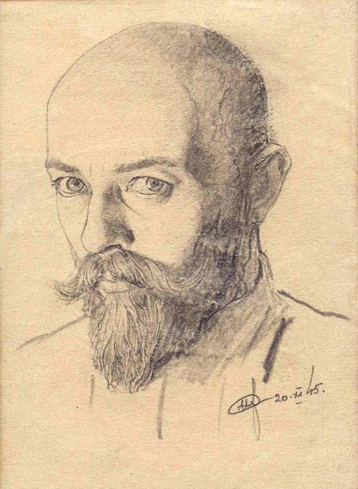 Ніл Хасевич. 1945 рік. Автопортрет. Волинський краєзнавчий музей