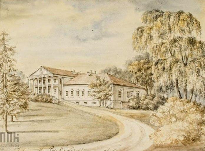Палац в Загайцях. Автор Наполеон Орда. 1860-1870-ті роки