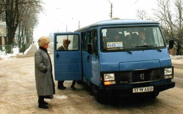 Мікроавтобус «Peugeot J9 Karsan» фірми «Ференс і Ко» у Винниках. 1998 рік