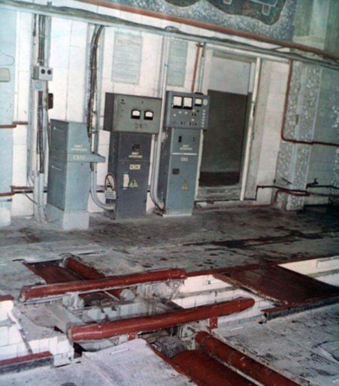 Стенд для випробовування тролейбусів у депо. 1989 р.