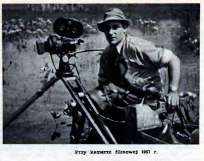 Володимир Пухальський за камерою, 1957 рік