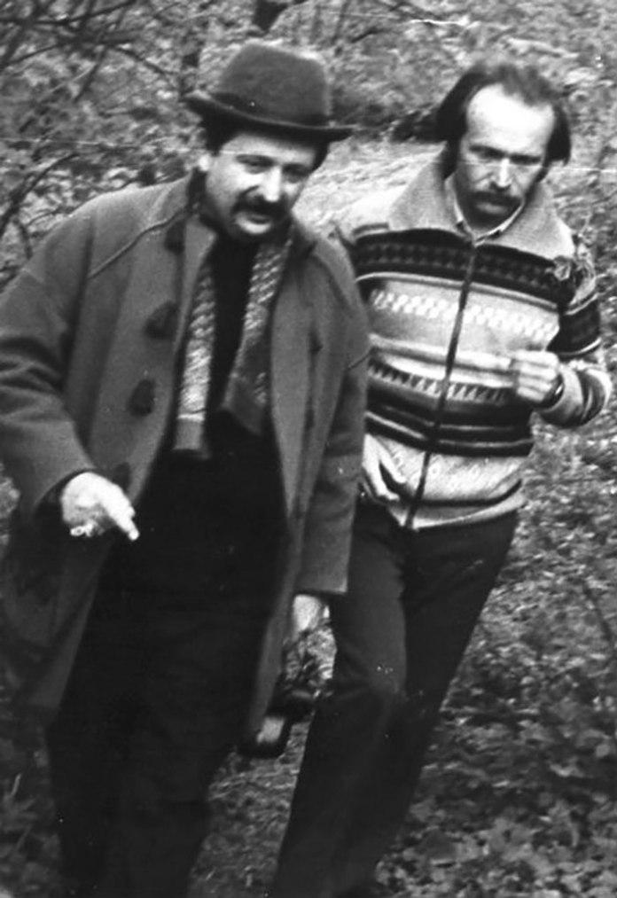 Михайло Горинь з В'ячеславом Чорноволом, кінець 1980–х років. Фото з ресурсу www.istpravda.com.ua