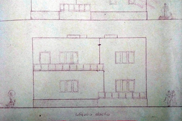 Проект будинку для Яна Банасяна, 1934 на офіцерській колонії, не зберігся